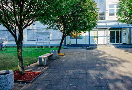 Eingangsbereich Campus Berlin