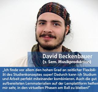 David Backenbauer Student der DHGS