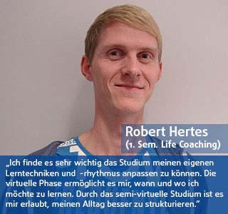 Robert Hertes Student der DHGS