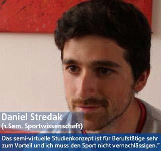 Daniel Stredak Student der DHGS