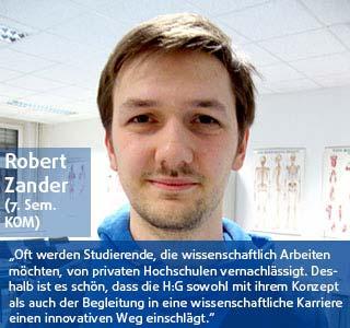 Robert Zander Student der DHGS