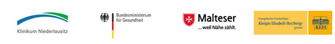 Kooperationspartner Klinikum Niederlausitz, Bundesministerium für Gesundheit, Malteser, Königin Elisabeth Herzberge Krankenhaus