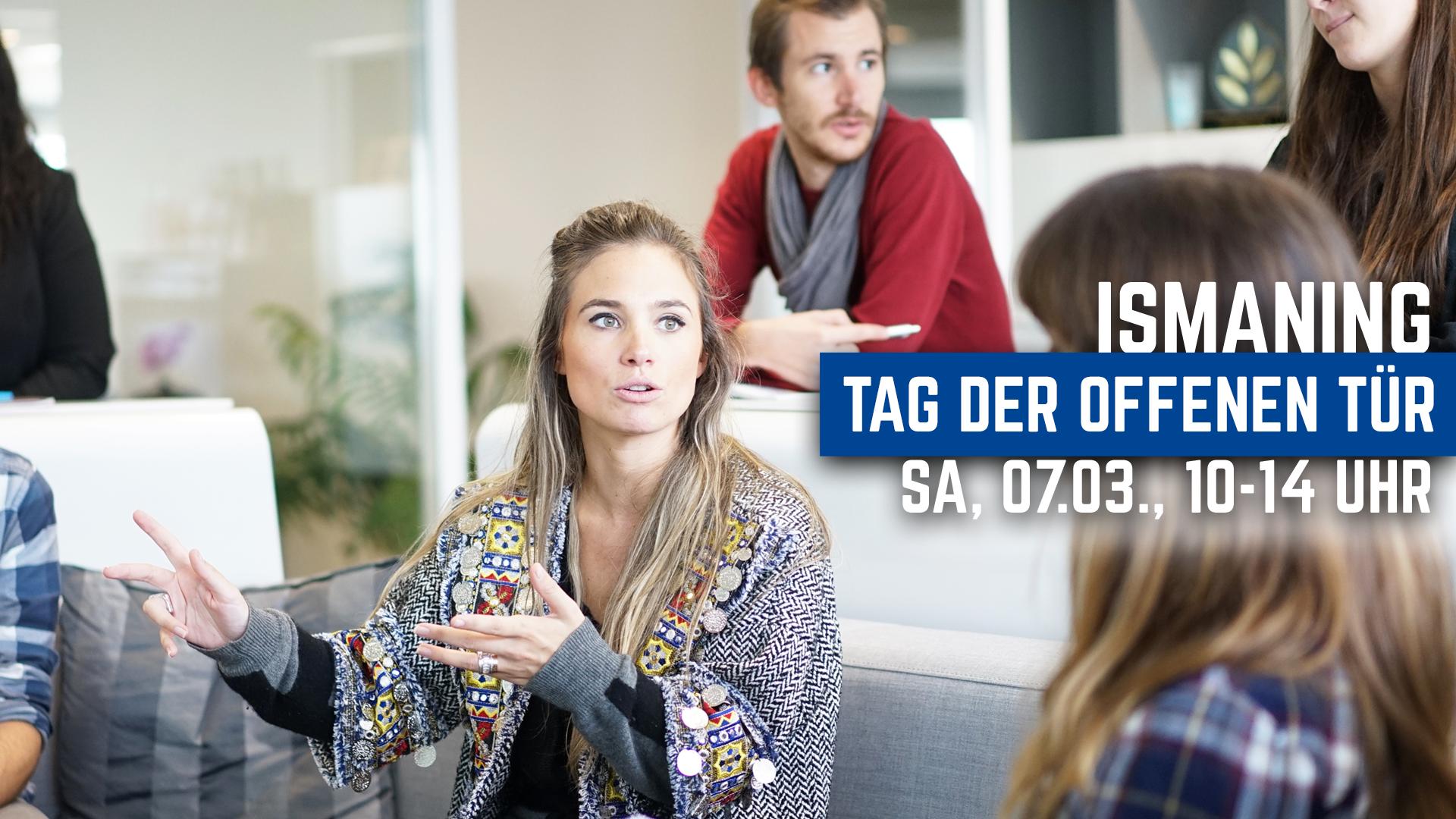Menschen im Austausch, Einladung zum Tag der offenen Tür in Ismaning am 07.03. von 10 bis 14 Uhr.