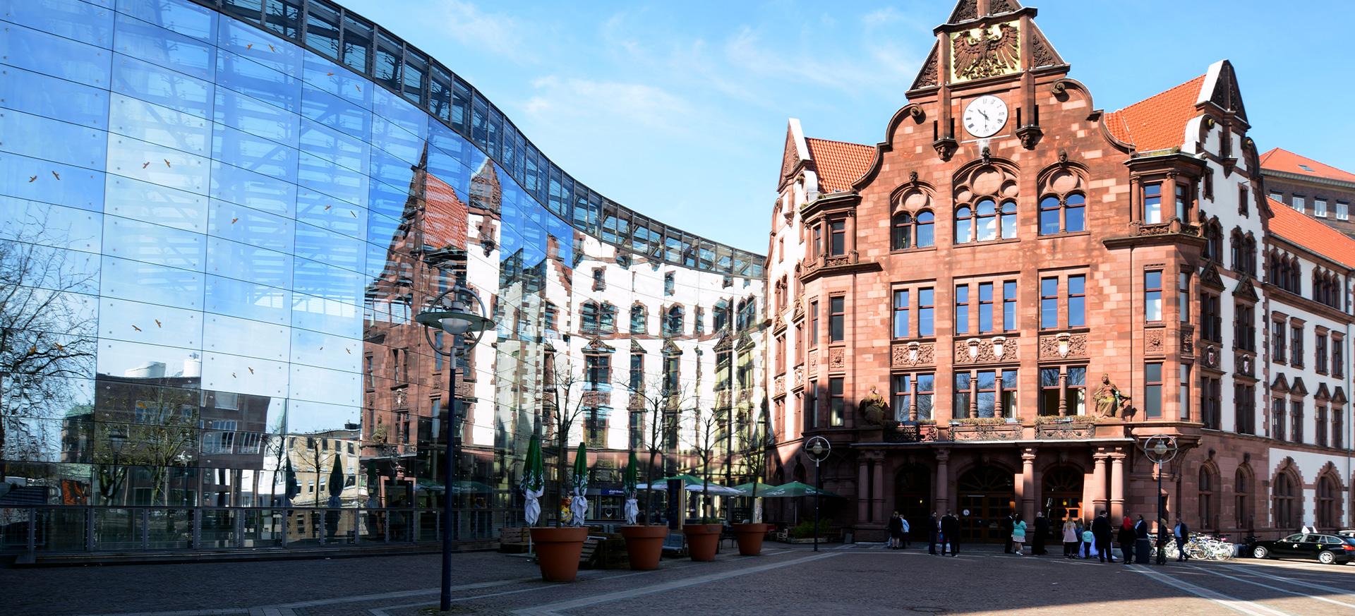 Blick auf die Berswordt-Halle in Dortmund.