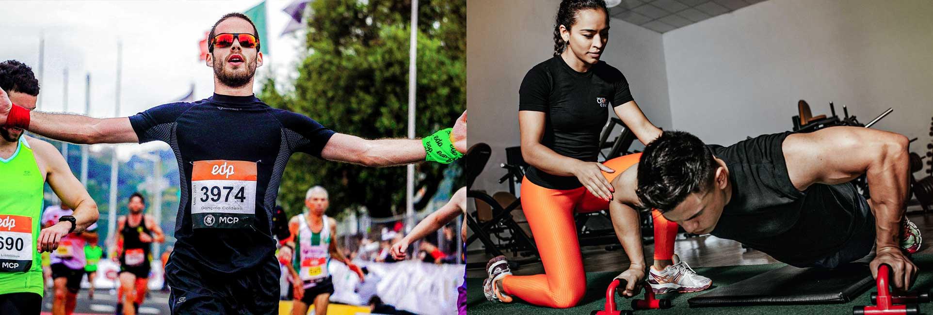Leichtathlet und Fitnesssportler