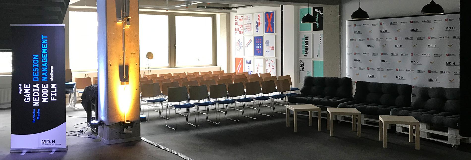 Hörsaal am Berliner Standort